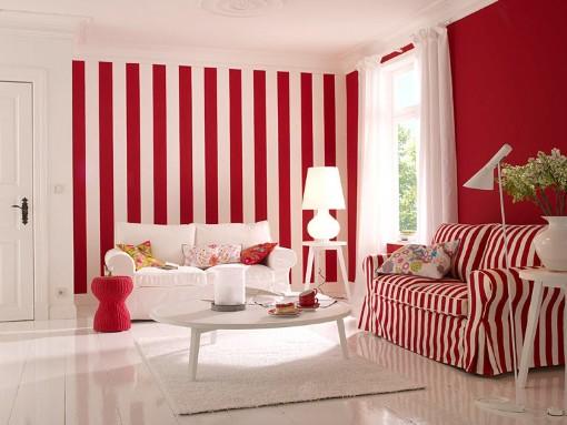 Обои красного и белого цвета